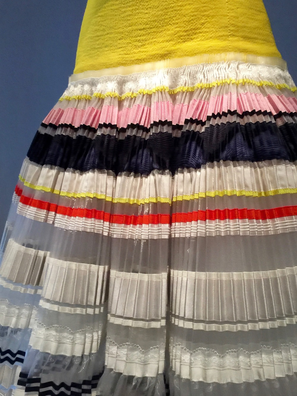 Detail of pleating