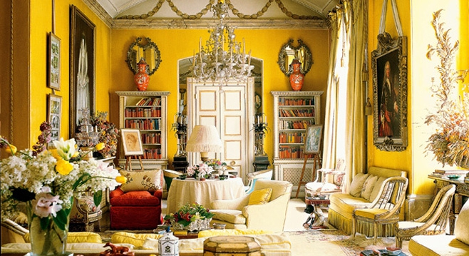 The yellow drawing room at Avery Row/Brook Street.