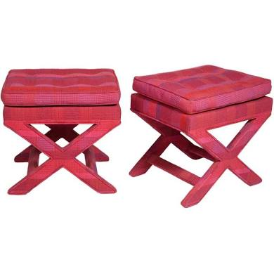 "A pair of ""X"" benches"