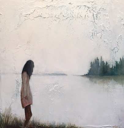 """Lost Lake"" - $350.  Acrylic on canvas.  20""x20"" - SOLD"