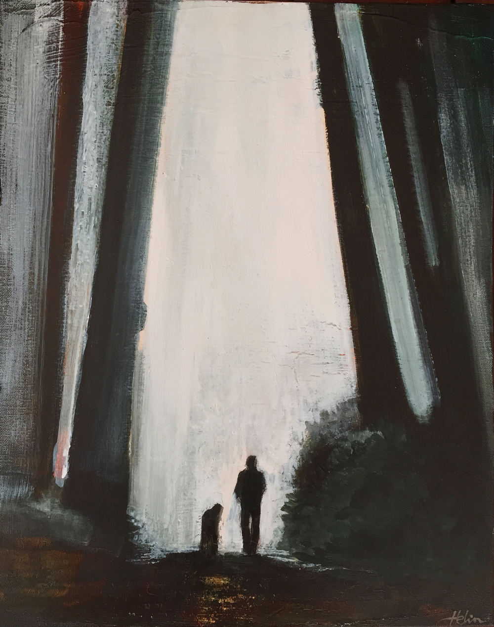 """Walk with Giants"" - $300.  Acrylic on canvas.  16""x20"" - SOLD"