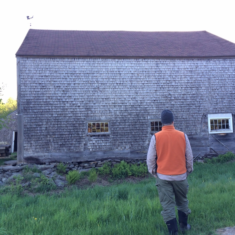 A man and his barn. A love story.