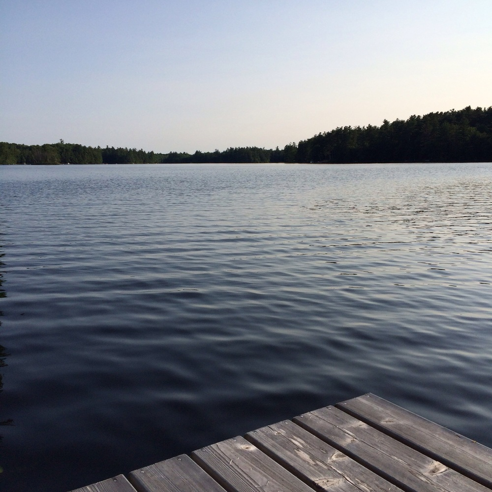 The view from the dock at camp, our special little place only a short drive away, in Mike's family since the 30's. Swimming here is without a doubt one of my favorite things about summer.