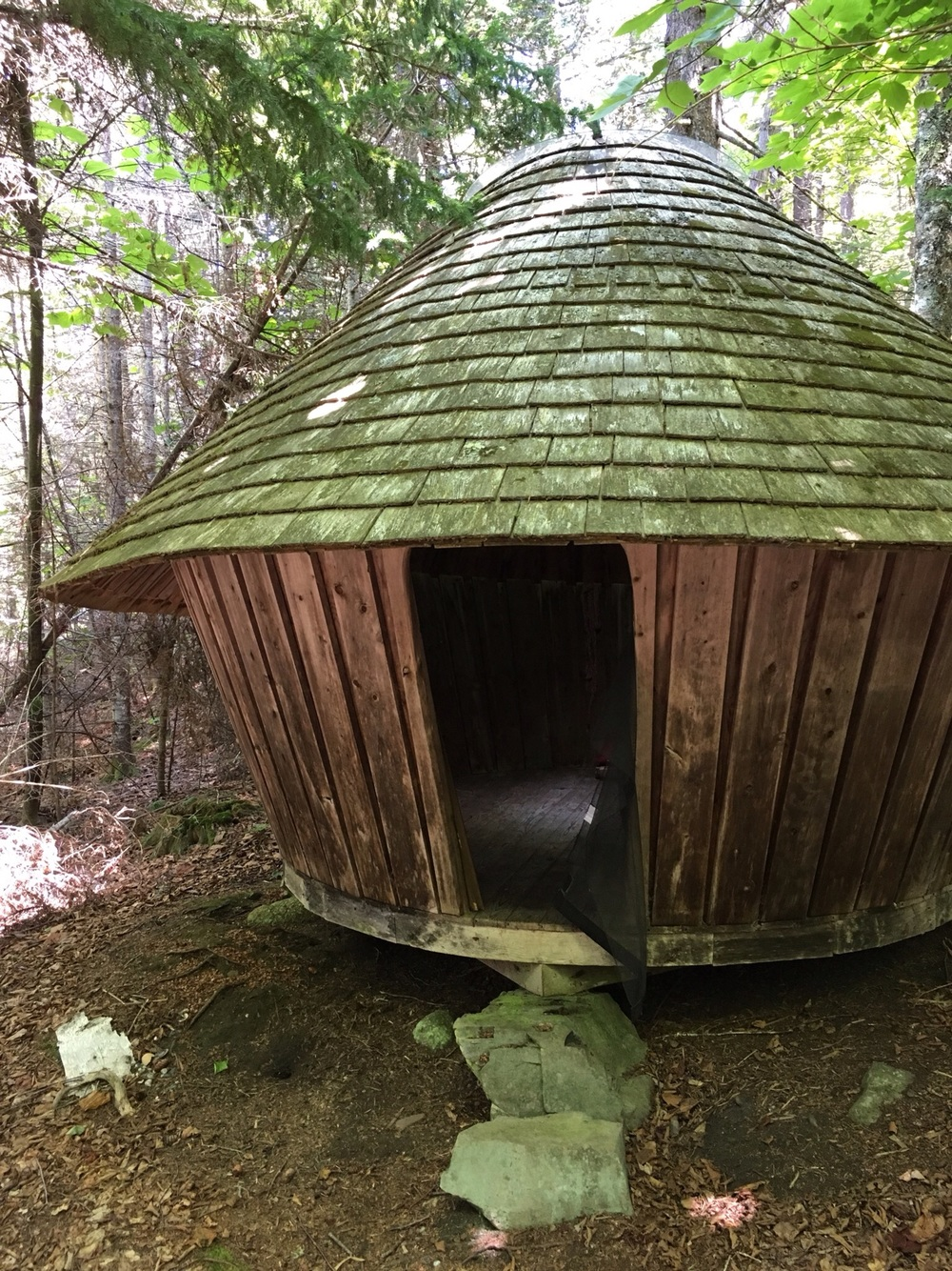 One of the yurts on the grounds of The Good Life Center.
