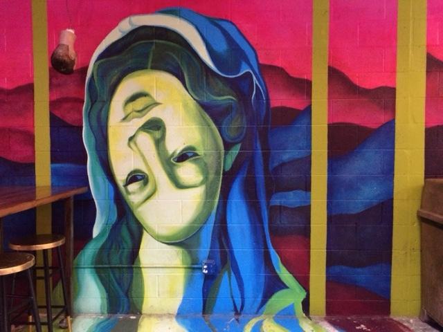 Nicole Trimble's mural installation at mecca OTR - www.nicoletrimble.com