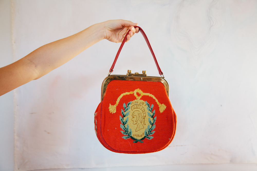 Her grandmother's purse, which she only wears to church on Sundays.
