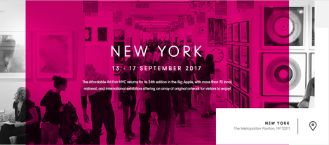 Risultati immagini per affordable art fair new york sept 2017