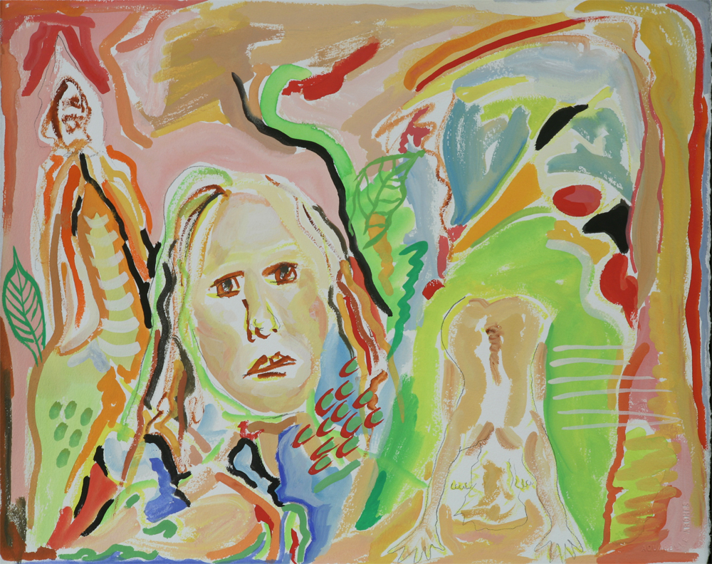 "Poker Face			16"" x 20""	gouache on paper		2009"