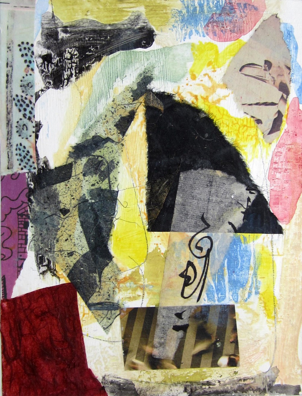 "Hong Kong Series VIII, mixed-media, 6"" x 4"" 2014"