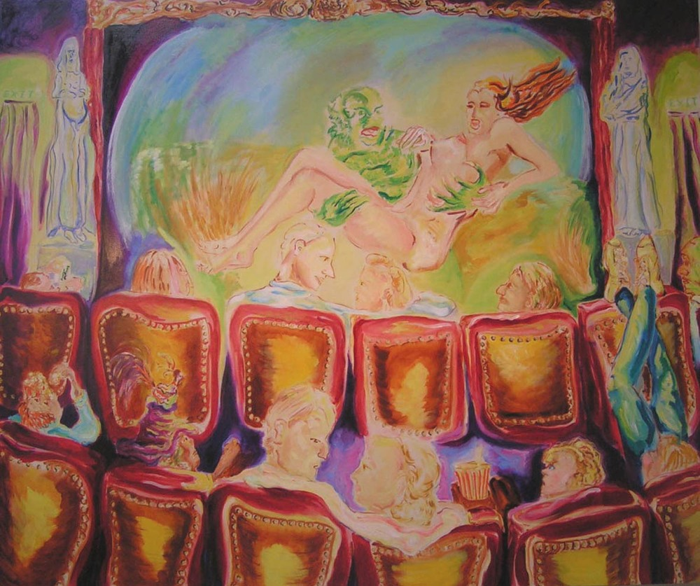 "Double Feature, oil on canvas, 60"" x 72"", 2005"