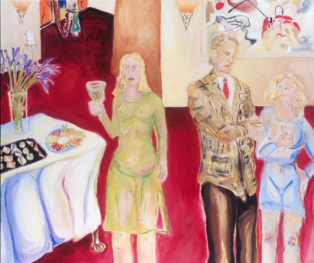 "Tenure Track oil on canvas, 60"" x 72"", 2003"