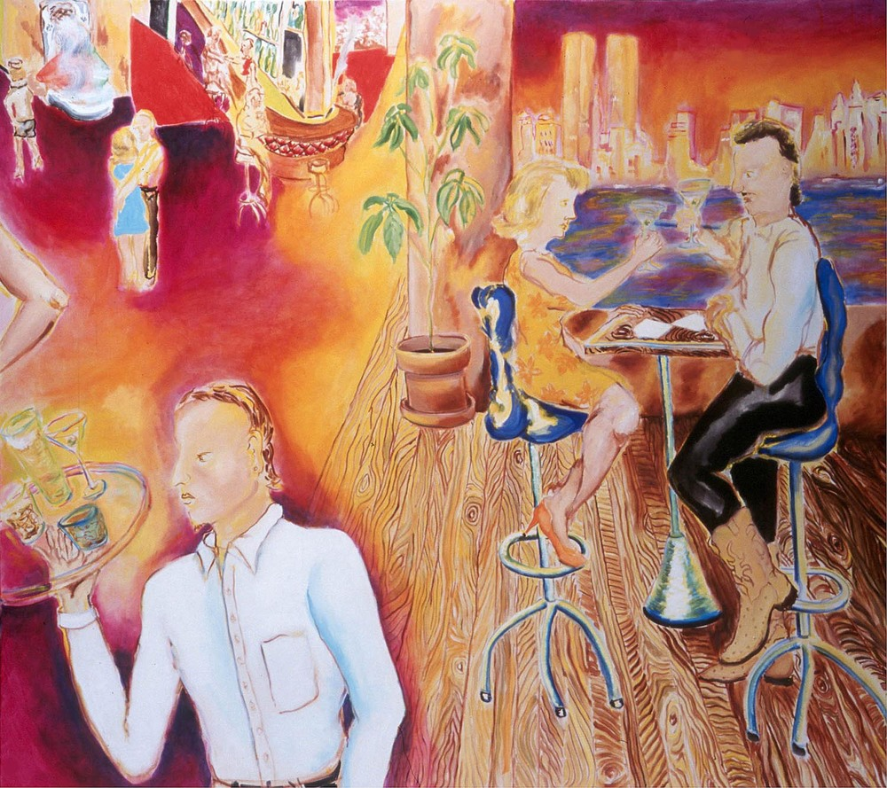 "Happy Hour, oil on canvas, 60"" x 72"", 2001"