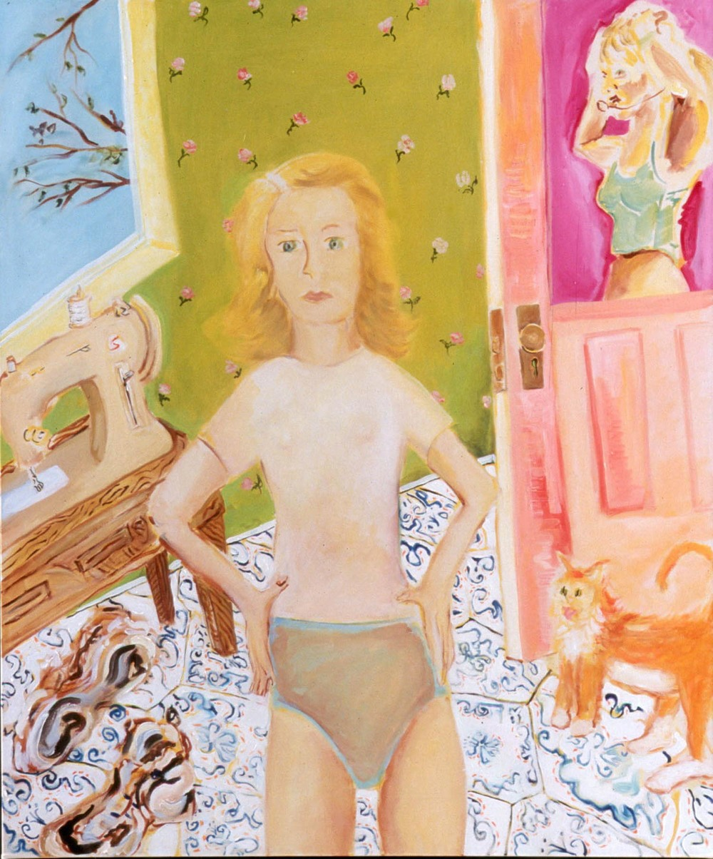 "Baby One More Time, oil on canvas, 48"" x 40"", 2001"