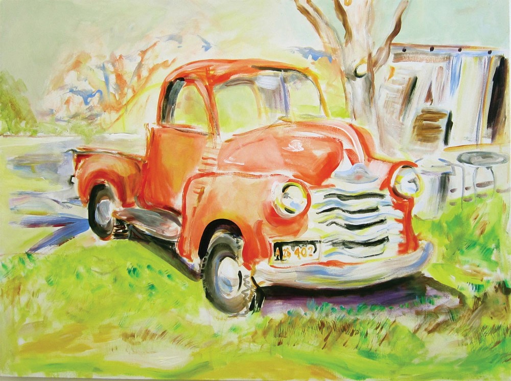 "1953 Chevy Pickup Truck		acrylic on canvas	30"" x 40""	2012"