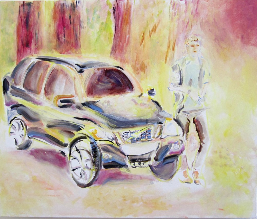"2011 Volvo S70R			acrylic on canvas	30"" x 36""	2012"