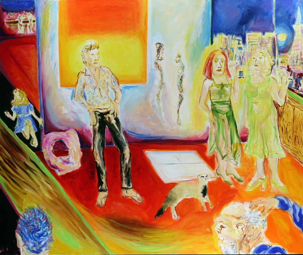 "Too Sexy for My Shirt, 60"" x 72"", oil on canvas 2008"