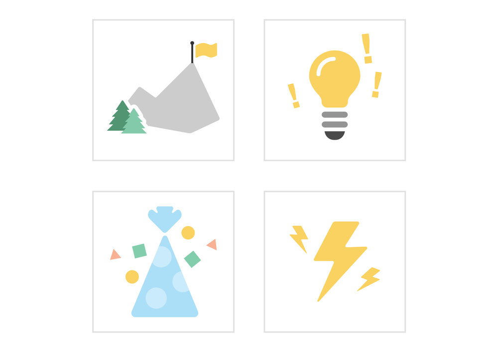 A set of icons used for internal emails.