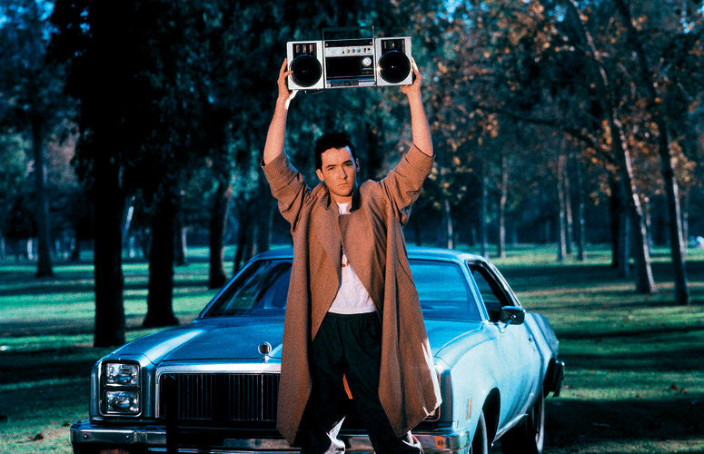Lloyd Dobler's iconic Peter Gabriel music is diegetic...