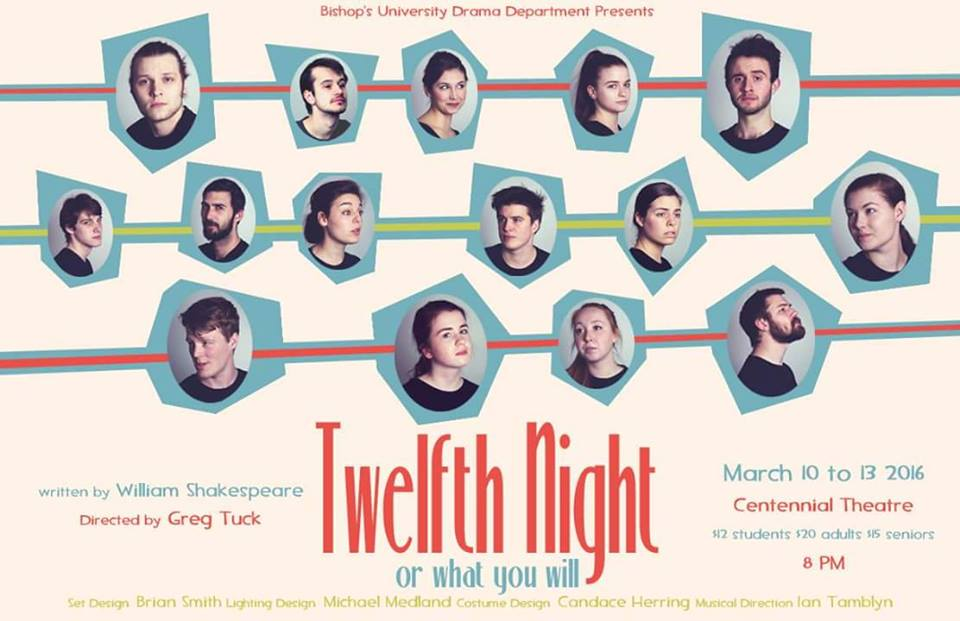 Or if theatre is more your thing, the BUDD's (Bishop's University Drama Department) production of Twelfth Night (you know, the basis of everyone's favourite Amanda Bynes movie  She's The Man ) is running this weekend!