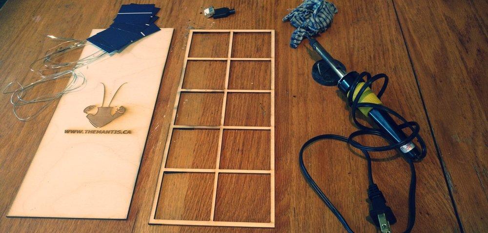 Solar USB kit ready to go!