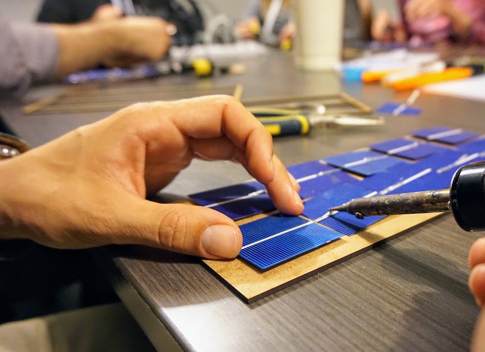 Solar Energy Kit - This is the chance to learn the basics of photovoltaics, electricity and soldering. With this kit you'll get started in green energy and at the end you'll have a solar usb charger for the beach, camping or the mountains.