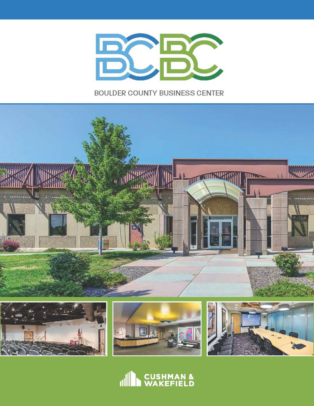 Property brochure with custom branding