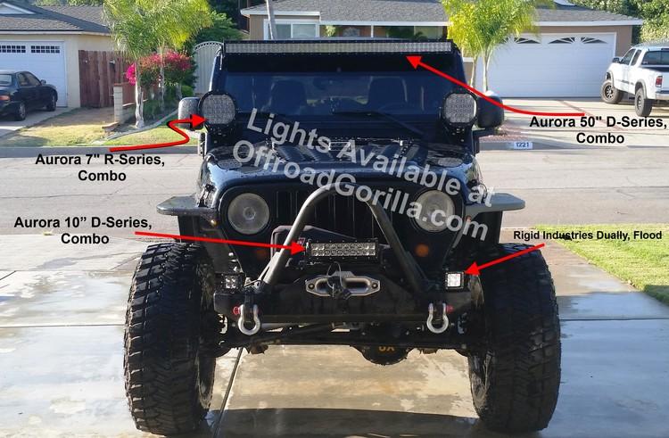Aurora double row led light bars offroadgorilla test jeepg aloadofball Images