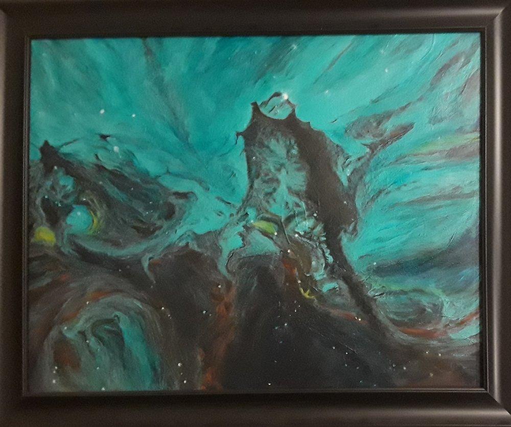 Hubble, framed