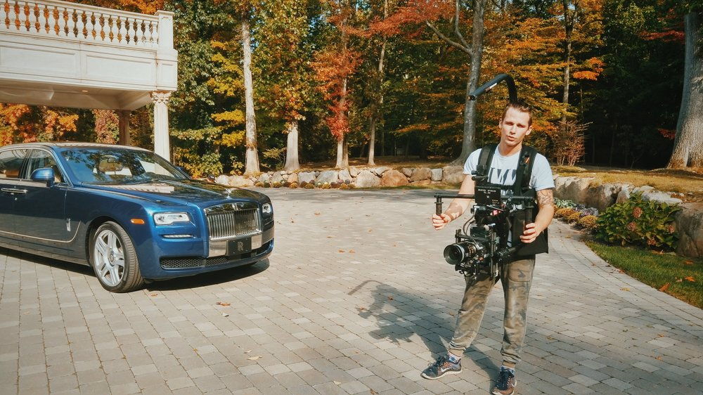 On set for Rolls Royce North America. | Red Dragon | Movi M15 | Easy Rig Production company: A1 Visuals | Photo: Phillip Shvartsman
