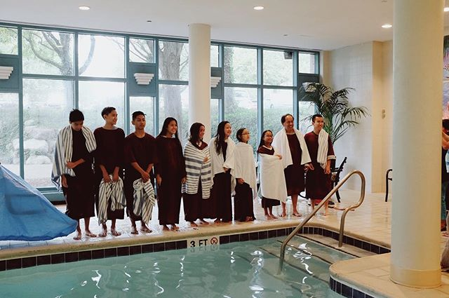 "Congrats to our youth members who were baptized this past weekend! - ""And this water symbolizes baptism that now saves you also—not the removal of dirt from the body but the pledge of a clear conscience toward God. It saves you by the resurrection of Jesus Christ..."" ‭‭1 Peter 3:21"