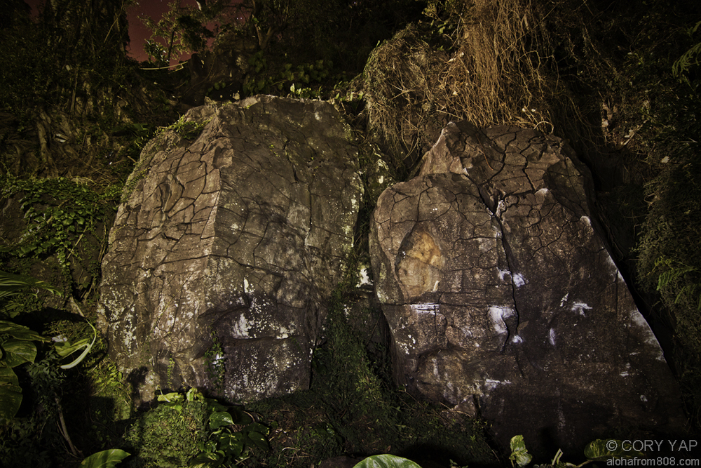 The dense, cracked basalt of the Town Boulders. PC: Cory Yap /  Aloha From 808
