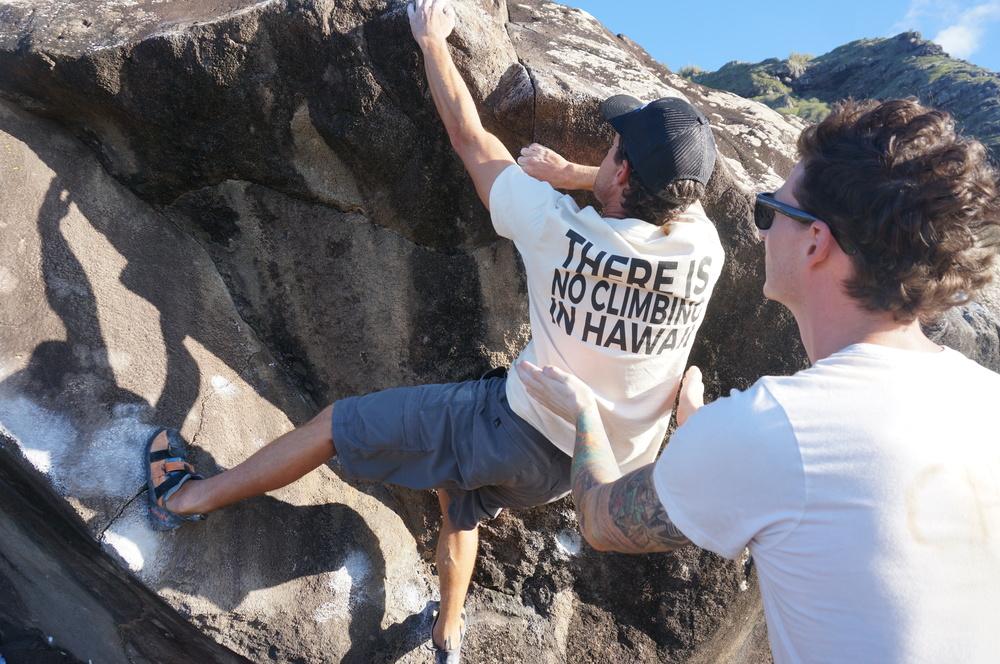 Joe on PB No J at Angel's Boulder.