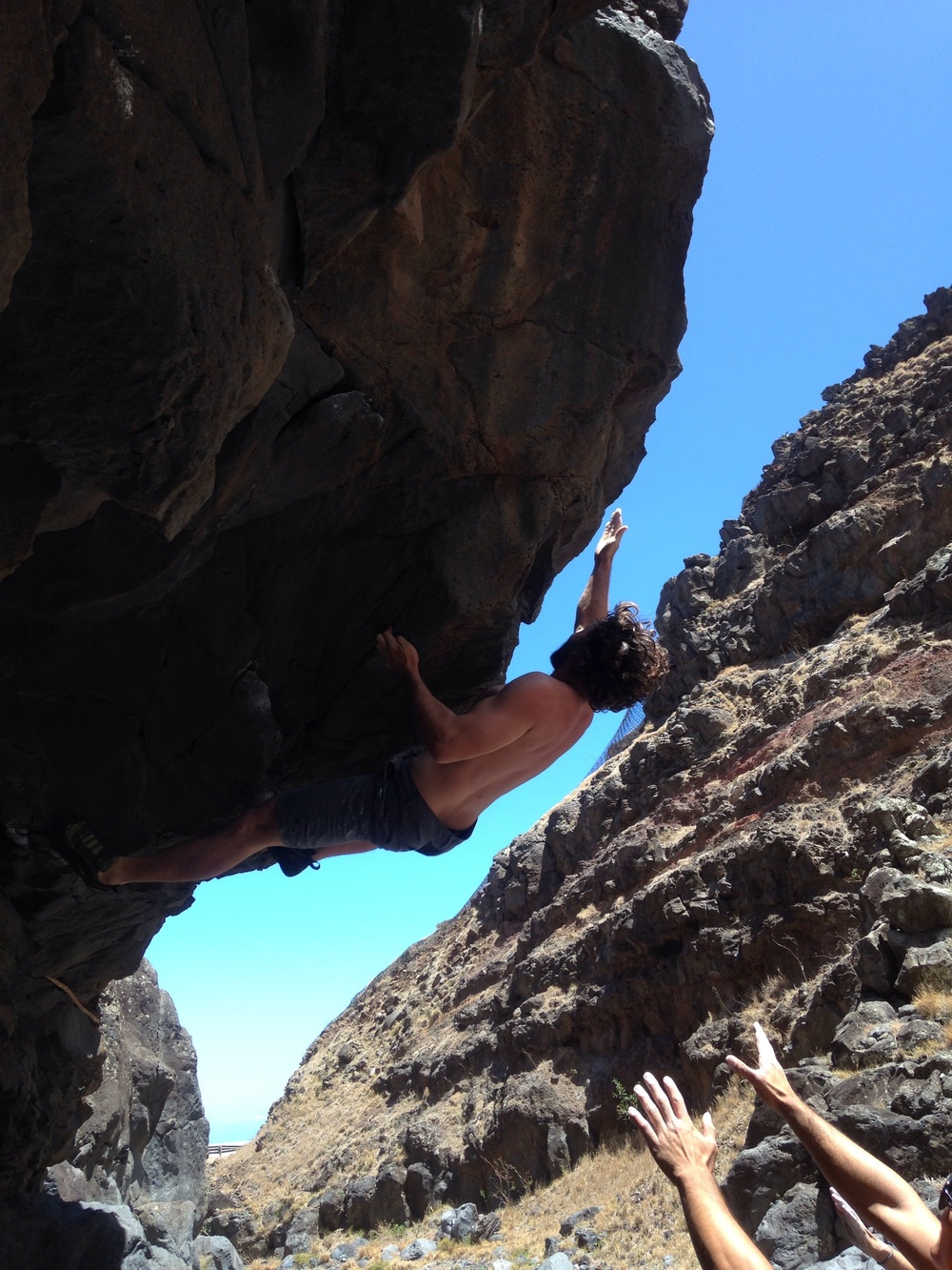 Jul 2016: Ryan Grant going for glory on Franger Banger (v7). PC: Matt