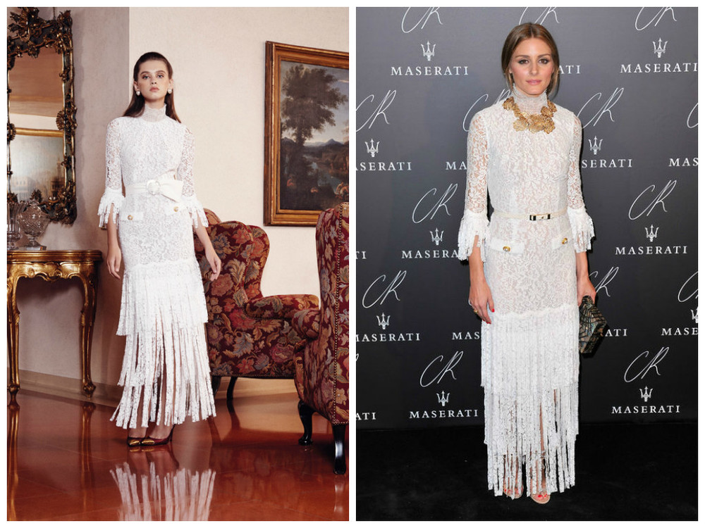 Alessandra Rich Dress SS 2015 source style.com  Olivia Palermo source: glamour.com
