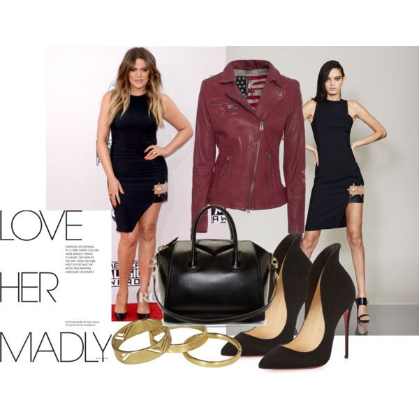 Dress:  Versus , Jacket: True Religion, Shoes: Christian Louboutin, Bag: Givenchy, Ring Set:  Scotch&Soda