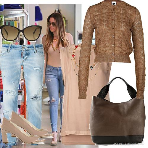 Shoes: BRIAN ATWOOD, Tank Top: BRUNELLO CUCINELLI, Jeans:  DSQUARED2 , Sunglasses: Gucci, Necklaces: Laura Lee and MARIA FRANCESCA PEPE, Tote: Marni, Cardigan: M MISSONI