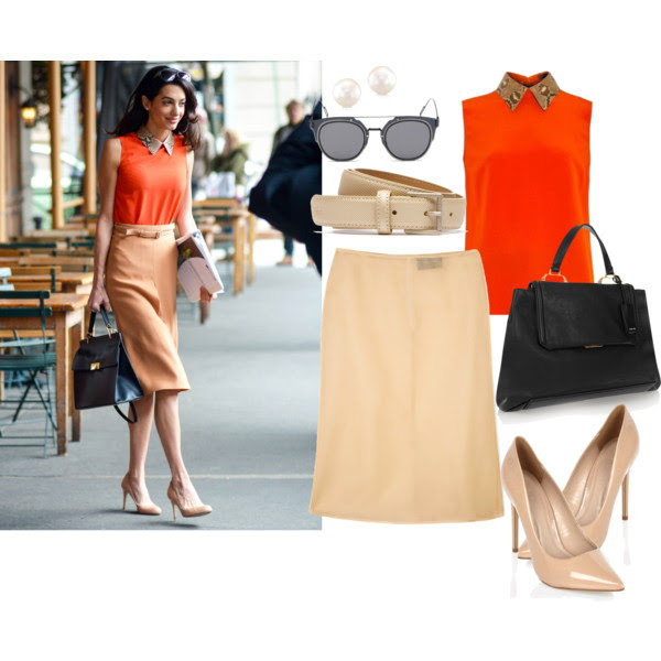 Top: Gucci, Skirt: Simone Rocha, Pumps: River Island, Tote: Miu Miu, Earrings: AnnSisteron, Belt: La Coste, Sunglasses: GANT