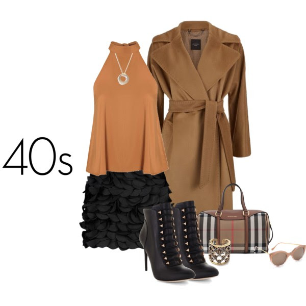 TOP: GLAMOUROUS, COAT: MAX MARA, MINI SKIRT: ARMANI, BOOTIES: BCBG, BAG: BURBERRY, CUFF RING: NASTY DRESS, NECKLACE: ALEXIS BITTAR, SUNGLASSES: ILLESTEVA