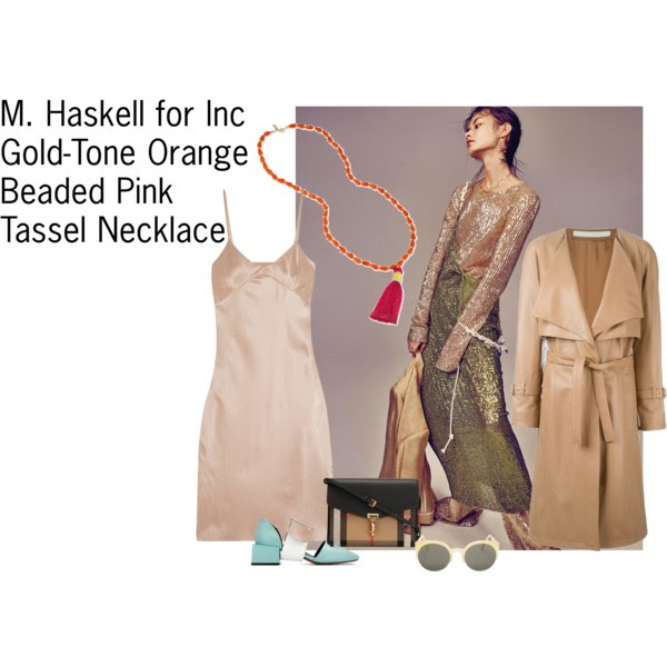 Dress: Marques' Almeida, Coat:  Drome , Shoes: Yoins, Bag: Burberry, Necklace:  M. Haskell for Inc  (or if you are not into tassel necklaces, here is another great option from  Emerald Park Jewelry )