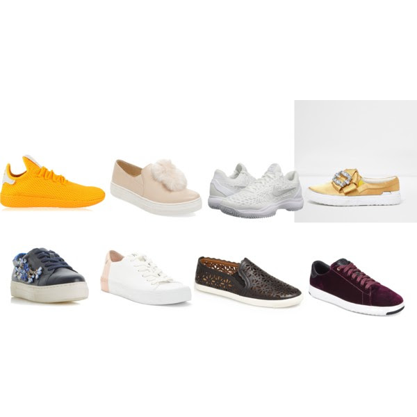 Top Row: ADIDAS,  Seychelles ,  Nike ,  River Island ,   Bottom Row: Dune London,  Ed Ellen Degeneres,  Aerin,  Cole Haan