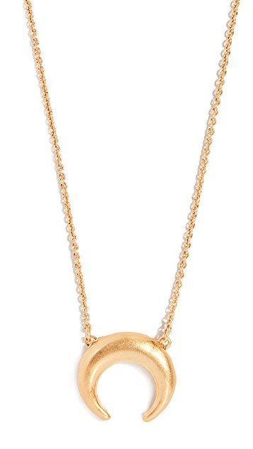 Madewell     Crescent Pendant Necklace   Nothing adds luxury to your wardrobe like a statement jewelry piece. It can be subtle ;), of course.