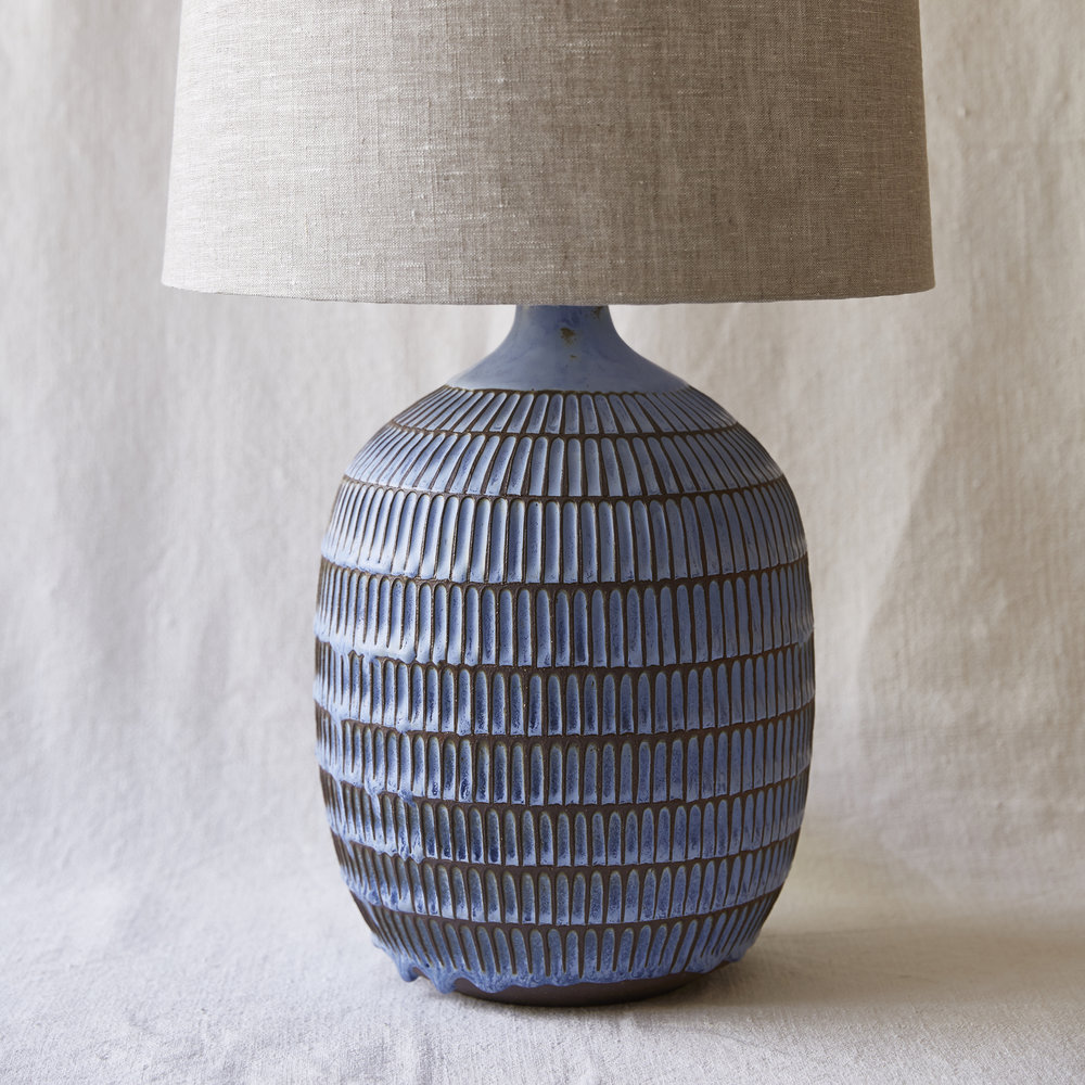 Mt Washington Pottery blue lamp.jpg