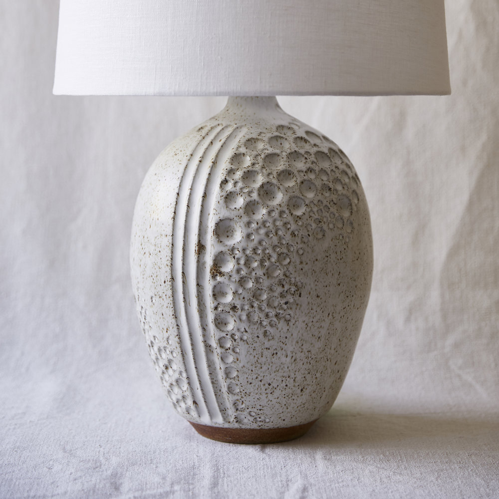 Mt Washington Pottery white moon lamp.jpg