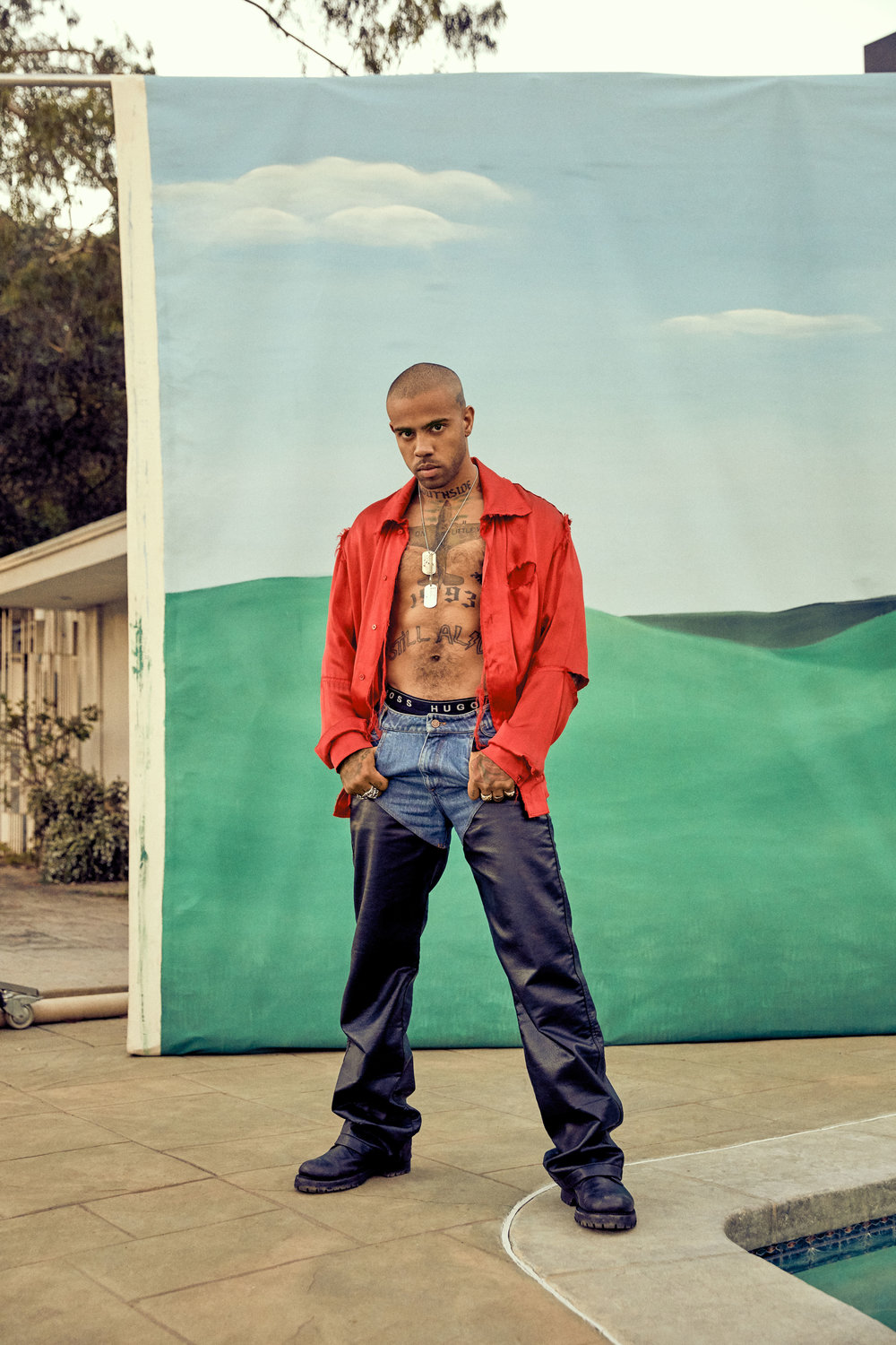 Vic Mensa by Danielle Levitt for L'Officiel USA