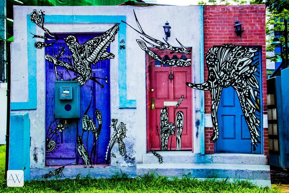 street art, Bonifacio Global City, Philippines
