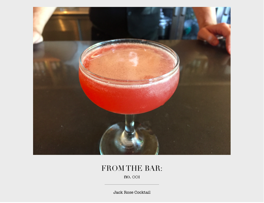 From the Bar: Jack Rose Cocktail