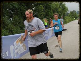 Huland & Lois finishing Run 4 the Rock 5k. May 31, 2014