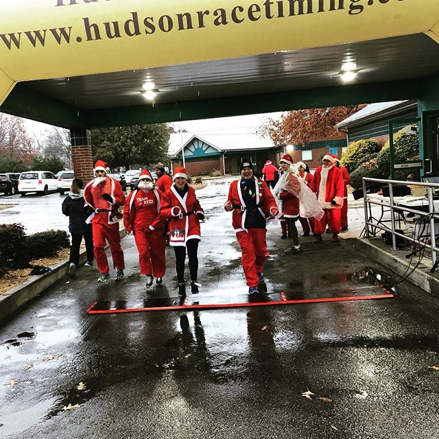Santa 5k on a crisp morning.