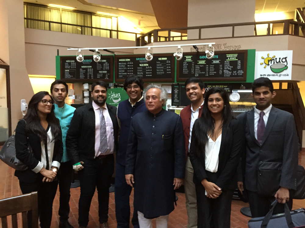The Georgetown-India Dialogue Founding Team with Mr.Jairam Ramesh