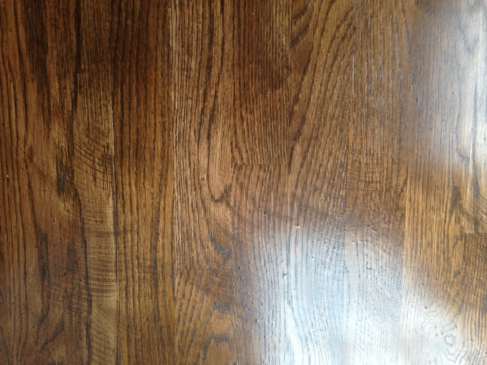 Hardwood Floor With Swirls